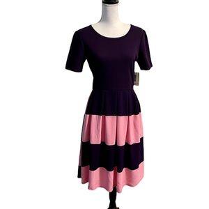 LuLaRoe Amelia Pink & Purple Dress-L
